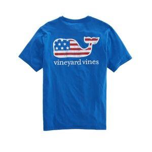 Flag Whale Vineyard Vines T-shirt